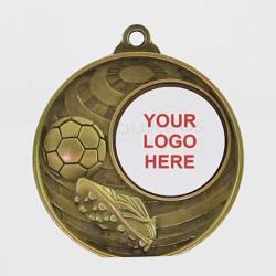 Global Soccer Logo Medal 50mm Gold