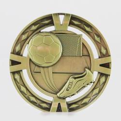 Cutout Soccer Medal 60mm Gold