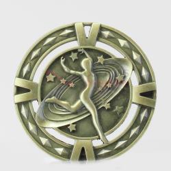 Cutout Dance Medal 60mm Gold