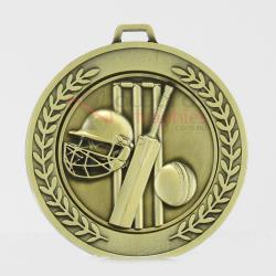 Heavyweight Cricket Medal 70mm Gold