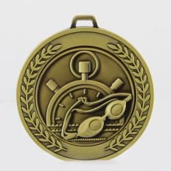 Heavyweight Swimming Medal 70mm Gold
