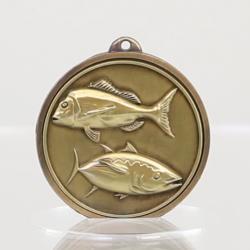 Triumph Fishing Medal 50mm Gold