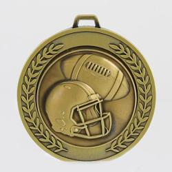 Heavyweight Gridiron Medal 70mm Gold