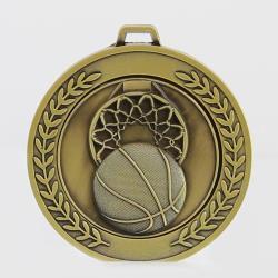 Heavyweight Basketball Medal 70mm Gold