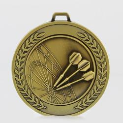 Heavyweight Darts Medal 70mm Gold