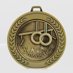 Heavyweight Gymnastics Medal 70mm Gold