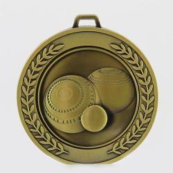 Heavyweight Lawn Bowls Medal 70mm Gold