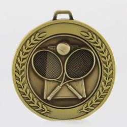Heavyweight Tennis Medal 70mm Gold