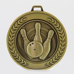Heavyweight Tenpin Medal 70mm Gold