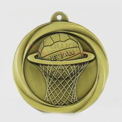 Econo Netball Medal 50mm Gold