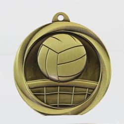 Econo Volleyball Medal 50mm Gold
