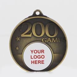 Personalised 200 Games Medal 50mm