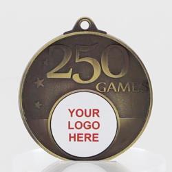 Personalised 250 Games Medal 50mm