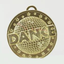 Shiny Disco Dance Medal 50mm Gold