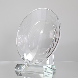 Crystal Tray with Base 200mm