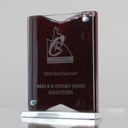 Glass, Chrome & Timber Freestanding Award