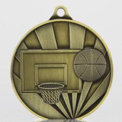 Sunrise Basketball Medal 70mm Gold