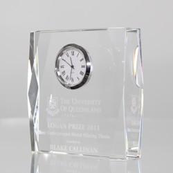 Crystal Rectangle Clock