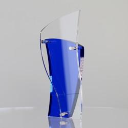 Blue & Silver Acrylic Swish 190mm