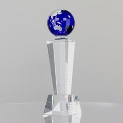 Blue Globe on Tower 220mm