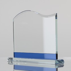 Blue Trim Glass Wave