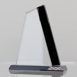 Black & Clear Glass Sail 180mm