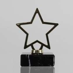 Metal Star Figurine on Marble Base 95mm